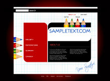 Website template Royalty Free Stock Image