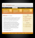 Website template. For business in orange-black-white style Stock Images