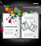 Website template stock illustration