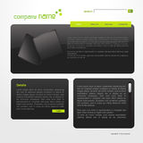 Website template. Vector editable website template in business theme Royalty Free Stock Photos