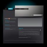 Website template. Vector editable website template in dark theme Royalty Free Stock Image