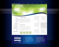 Website template Royalty Free Stock Photos
