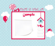 Website template. Bright summer/kids website template Stock Photography