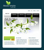 Website template. Easy to use in adobe Photoshop, Flash or Illustrator to export it to HTML format, just edit or replace text and add your sub pages Royalty Free Stock Photo