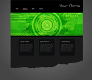 Website template Stock Photography