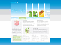 Website template. Four season web template in editable  format Stock Image