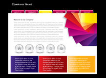 Website template. Business web template in editable  format Stock Image
