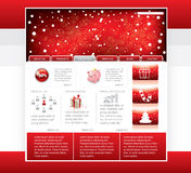 Website template. Red christmas website in editable format royalty free illustration