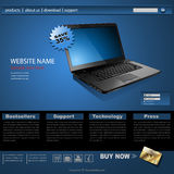 Website template. Modern design for business, editable vector Royalty Free Stock Images