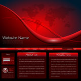 Website template. Detailed, complex design, red black