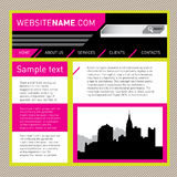 Website template. Stock Images
