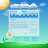 Website template. In weather style Royalty Free Stock Images