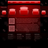 Website template. In dark red style Stock Photos