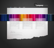 Website template. Stock Photos