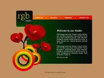 Website Template 2 Stock Image