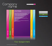 Website template. Editable website template for sales and promotion - personal Stock Photos