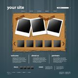 Website Template Royalty Free Stock Images