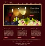 Website template. Web Design Website Vector Elements.Wine shop template design Stock Images