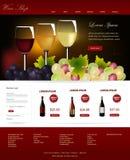 Website template. Web Design Website Vector Elements.Wine shop template design Stock Photo