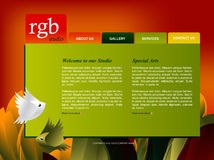 Website Template. Easy to use in adobe flah or illustrator to export it as a website, just edit or replace text and add your sub pages Royalty Free Stock Photography