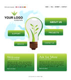 Website Template Royalty Free Stock Photography