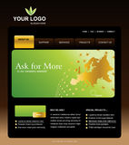 Website Template. Easy to use in adobe flah or illustrator to export it as a website, just edit or replace text and add your sub pages Stock Image
