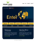 Website Template Royalty Free Stock Photos