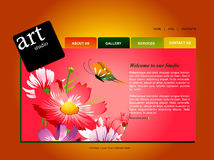 Website Template vector illustration