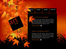 Website Template. Easy to use in adobe flah or illustrator to export it as a website, just edit or replace text and add your sub pages Royalty Free Stock Photo