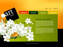 Website Template. Easy to use in adobe flah or illustrator to export it as a website, just edit or replace text and add your sub pages Stock Photos