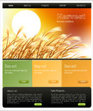 Website Template. Vector Website template, Home and interior page, easy to use and edit Royalty Free Stock Images