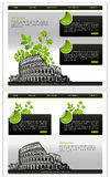 Website Template. Vector Website template, Home and interior page, easy to use and edit Stock Photography