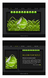 Website Template. Vector Website template, Home and interior page, easy to use and edit Royalty Free Stock Image