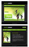 Website Template. Vector Website template, Home and interior page, easy to use and edit Royalty Free Stock Photos