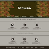 Website Template with Abstract Bricks Pattern Design Royalty Free Stock Images