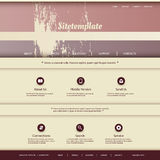 Website Template with Abstract Grungy Header Design Royalty Free Stock Photography