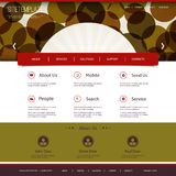 Website Template with Abstract Header Design - Circles Royalty Free Stock Images