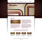 Website Template with Abstract Header Design - Colorful Retro Styled Pattern Stock Photography