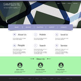 Website Template with Abstract Header Design Royalty Free Stock Image