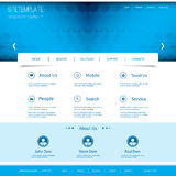 Website Template with Abstract Header Design Stock Photography