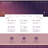 Website Template with Abstract Header Design Royalty Free Stock Photography
