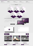 Website Template with Abstract hexagon infographics Design, Eps 10 vector illustration, Royalty Free Stock Images