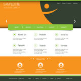 Website Template with Abstract Smiley Header Design Stock Images