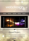 Website template background. Easy all editable Royalty Free Stock Image