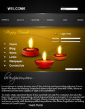 Website template Beautiful happy diwali colorful h Stock Photos