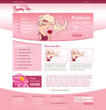 Website template for beauty business Royalty Free Stock Image