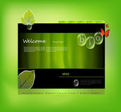 Website template bio Stock Image