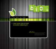 Website template with bio sign. royalty free illustration