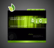 Website template with bio sign. Royalty Free Stock Photography