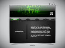 Website template in black and green colors Stock Image